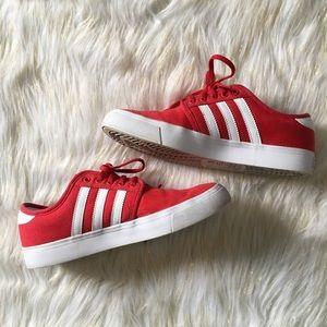 Adidas Originals Red Low Top Sneakers